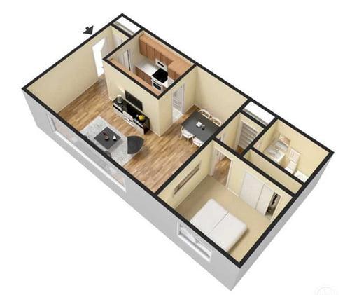 1 And 2 Bedroom Layouts Woodridge Apartments