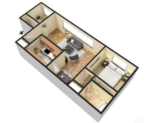 1 and 2 Bedroom Layouts | Woodridge Apartments